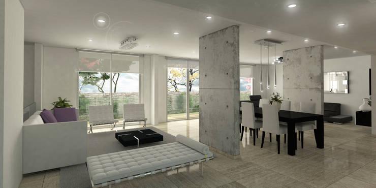 Salon Principal: Salas de estilo  por Oleb Arquitectura & Interiorismo