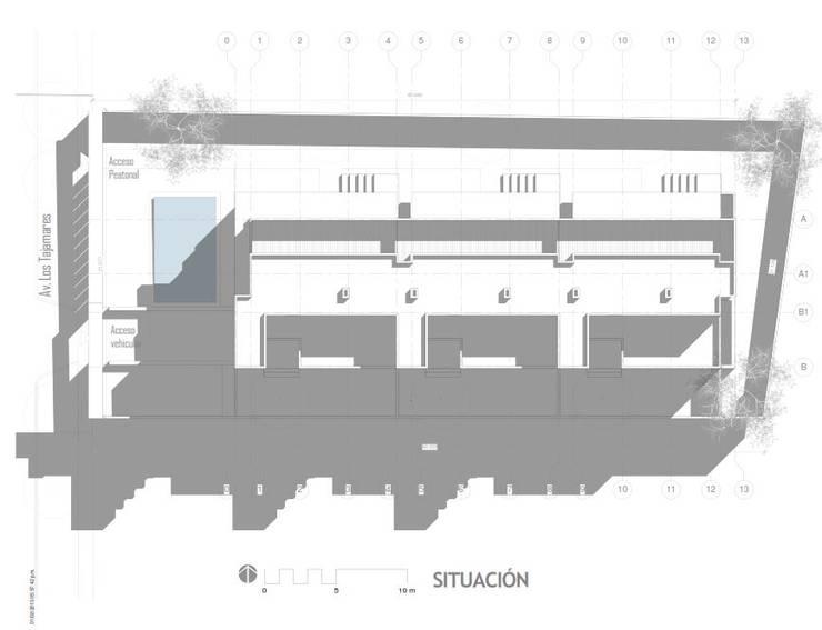 Planta de Situación:  de estilo  por Oleb Arquitectura & Interiorismo