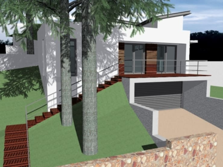 Casa Cubelles 1:  de estilo  por Oleb Arquitectura & Interiorismo