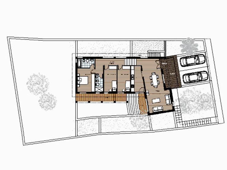 Planta:  de estilo  por Oleb Arquitectura & Interiorismo