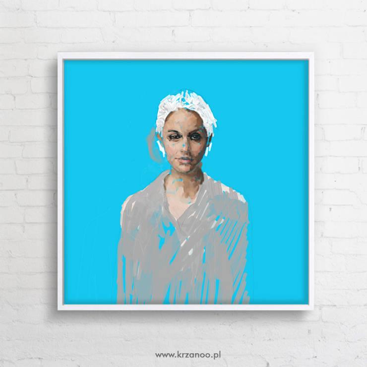 OBRAZ NA PŁÓTNIE 100x100cm: styl , w kategorii Salon zaprojektowany przez KRZANOO ART' PRACOWNIA ARTYSTYCZNA
