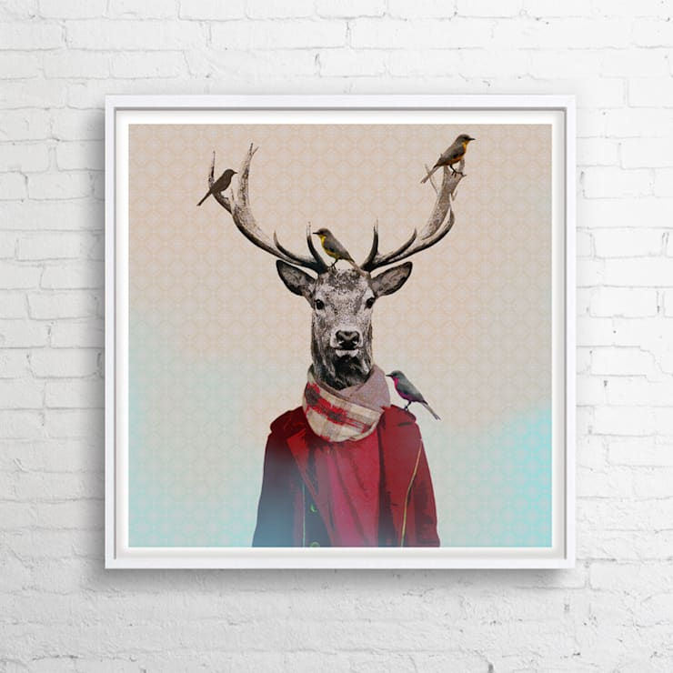 OBRAZ NA PŁÓTNIE 100x100 cm: styl , w kategorii  zaprojektowany przez KRZANOO ART' PRACOWNIA ARTYSTYCZNA,Nowoczesny