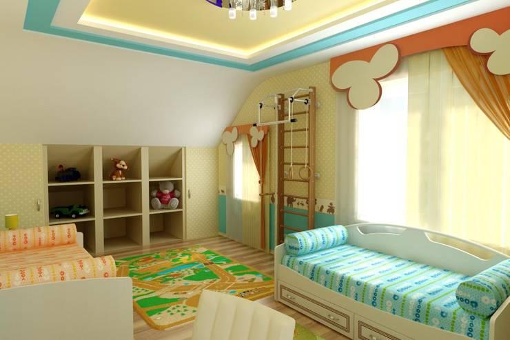 Интерьер Детской: Детские комнаты в . Автор – Цунёв_Дизайн. Студия интерьерных решений.,