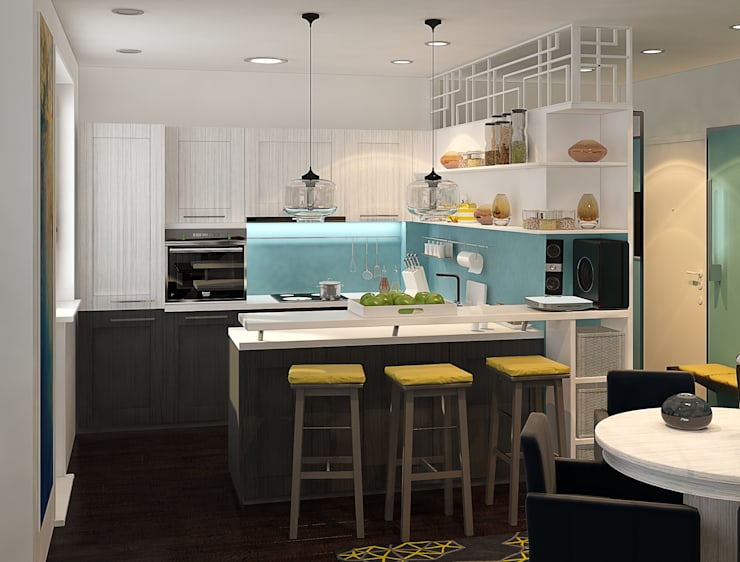 minimalistic Kitchen by Alyona Musina