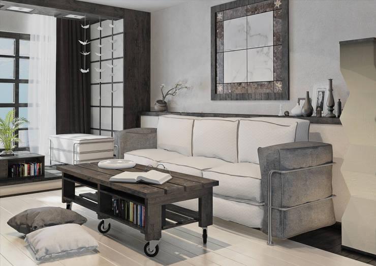 غرفة المعيشة تنفيذ Alyona Musina