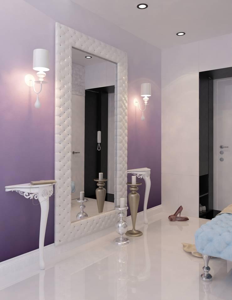 Визуализации проекта 3х комнатной квартиры: Коридор и прихожая в . Автор – Alyona Musina, Модерн