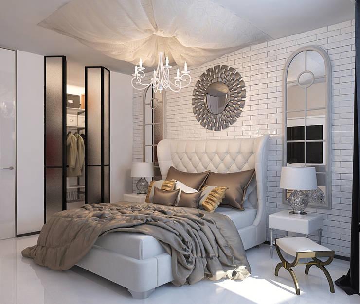 Визуализации проекта 3х комнатной квартиры: Спальни в . Автор – Alyona Musina