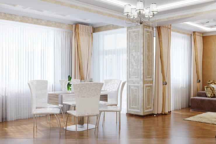 Неоклассика для кухни-столовой: Кухни в . Автор – Студия дизайна Interior Design IDEAS, Классический
