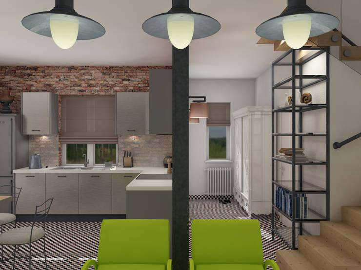 Лимонный лофт Кухня в стиле лофт от Студия Интерьерных Решений Десапт Лофт
