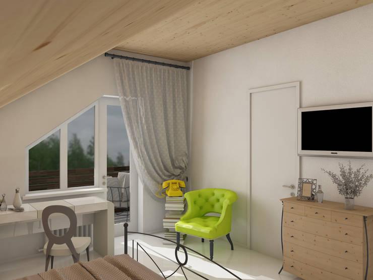 Лимонный лофт Спальня в стиле лофт от Студия Интерьерных Решений Десапт Лофт