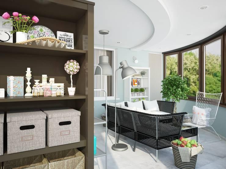 Современная квартира для современной семьи: Tерраса в . Автор – MEL design