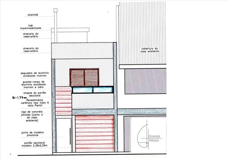 Fachada:   por Graziela Alessio Arquitetura