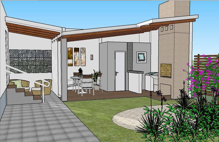 Área gourmet: Garagens e edículas  por Graziela Alessio Arquitetura,
