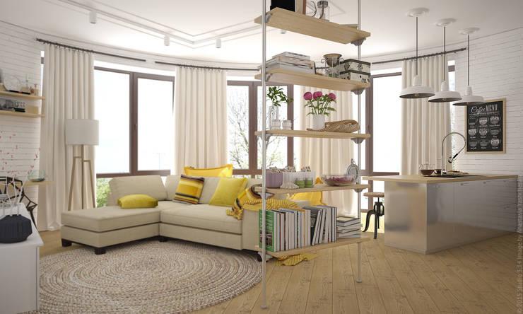Гостиная. Лофт по-восточному Гостиная в стиле лофт от «Студия 3.14» Лофт