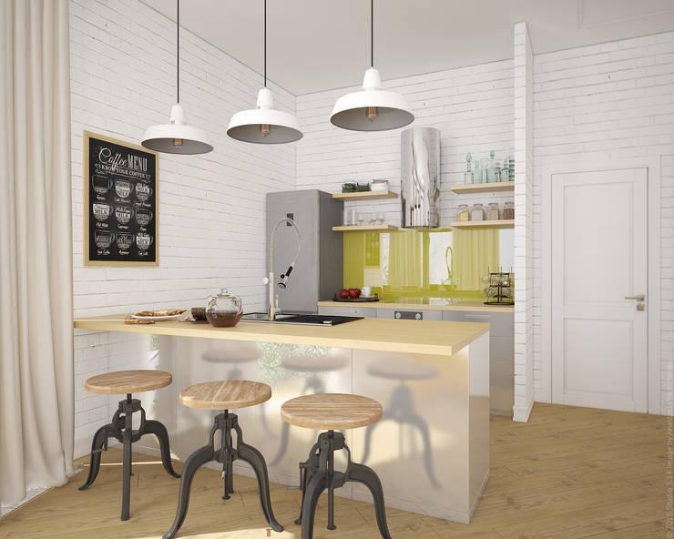 industrial Kitchen by «Студия 3.14»
