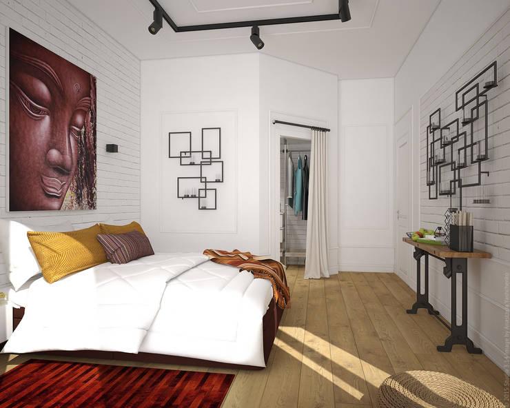 Спальня. Лофт по-восточному Спальня в стиле лофт от «Студия 3.14» Лофт