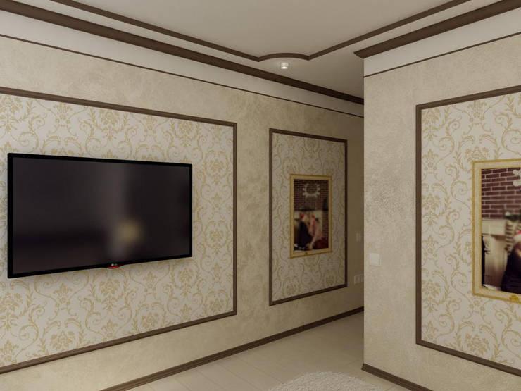 Спальня в классическом стиле с барной комнатой.: Спальни в . Автор – Дизайн студия 'Exmod' Павел Цунев