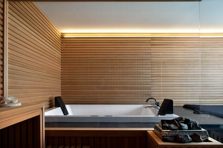 rustic Spa by MIDE architetti