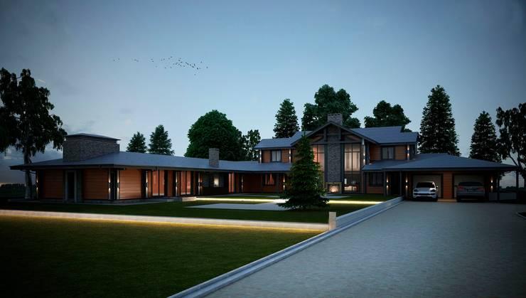 Проект дома в скандинавском стиле Дома в скандинавском стиле от Way-Project Architecture & Design Скандинавский