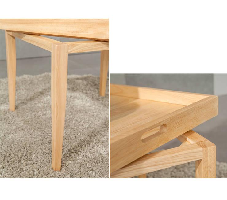 컨버터블 사이드 테이블: 우든하우스 의 현대 ,모던