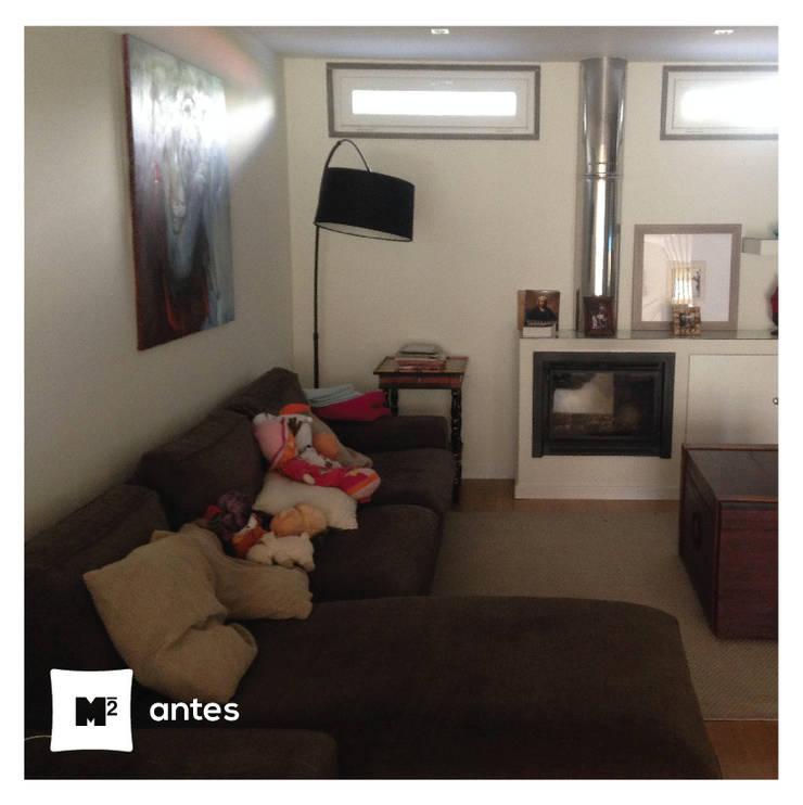 A sala da Sofia:   por Metros Menos Quadrados