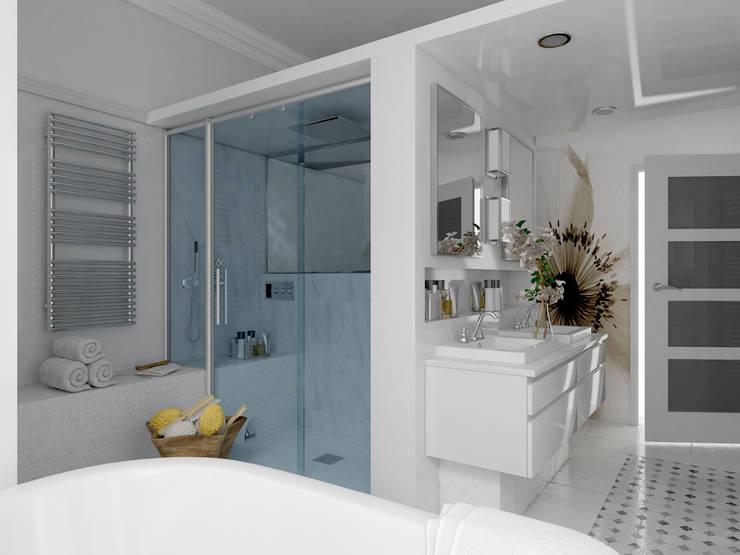 Vue sur la douche Hammam: Salle de bain de style de style Classique par Architecture du bain