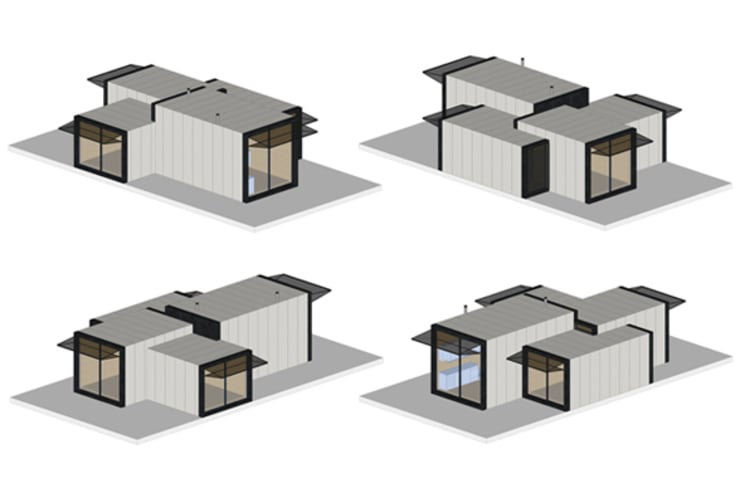 Casas modulares:   por ASVS Arquitectos Associados,Minimalista