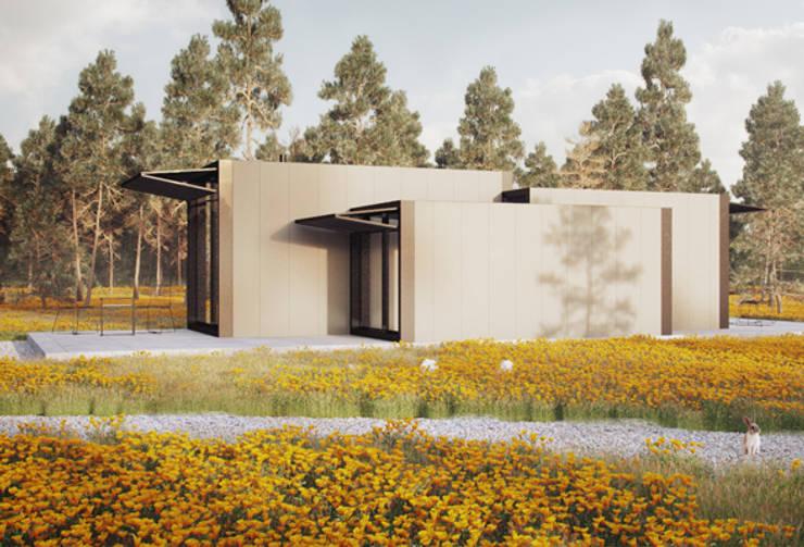 Minimalistische Häuser von ASVS Arquitectos Associados Minimalistisch