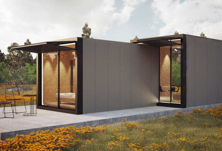 Minimalist houses by ASVS Arquitectos Associados Minimalist