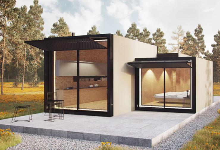 Casas modulares: Casas  por ASVS Arquitectos Associados,Minimalista