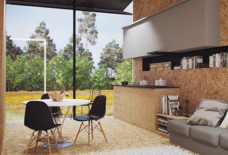 Casas modulares: Cozinhas  por ASVS Arquitectos Associados,Minimalista