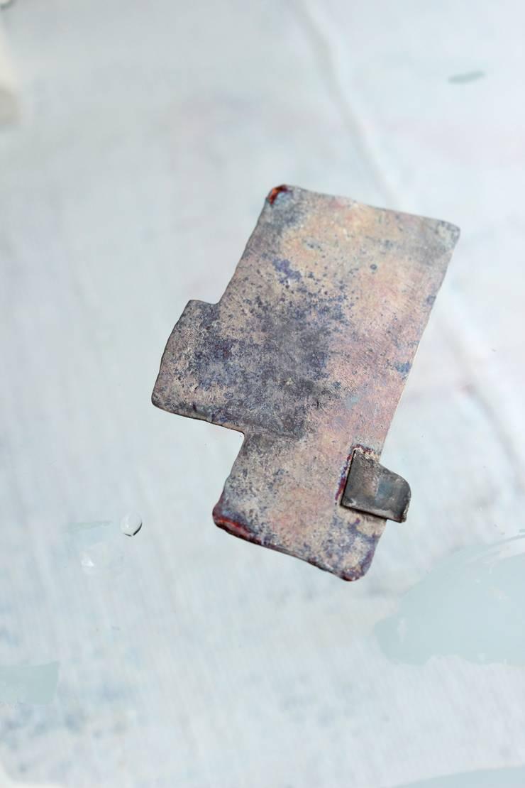 Brooch: Hiroshi NOMOTOが手掛けた現代のです。,モダン 金属
