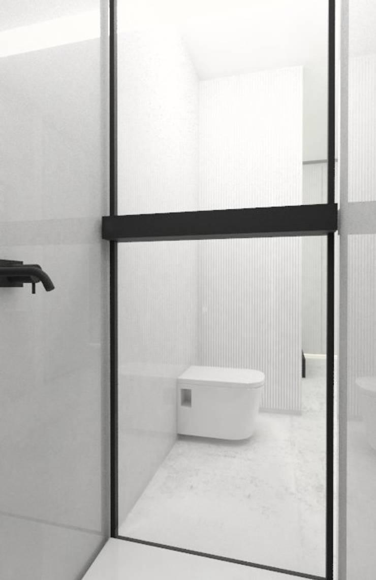 Mała łazienka: styl , w kategorii Łazienka zaprojektowany przez Sic! Zuzanna Dziurawiec,Nowoczesny Beton