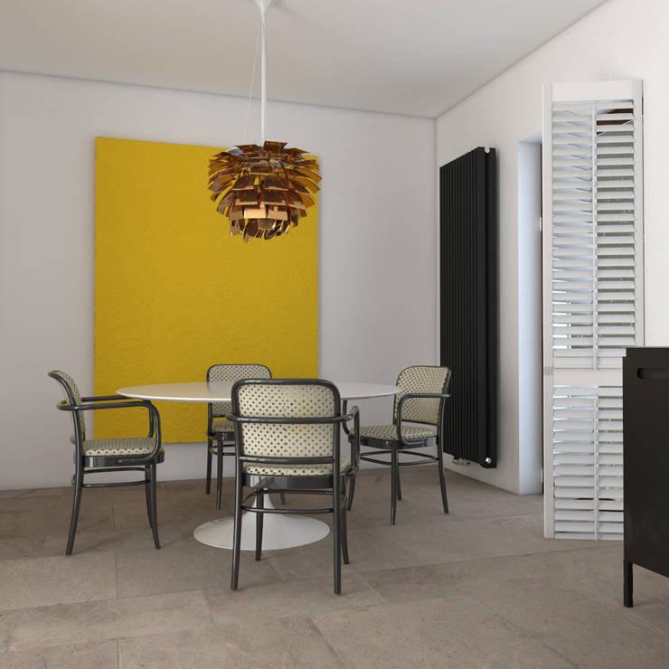 Dom w Konstancinie: styl , w kategorii Jadalnia zaprojektowany przez Sic! Zuzanna Dziurawiec,Eklektyczny Kamień