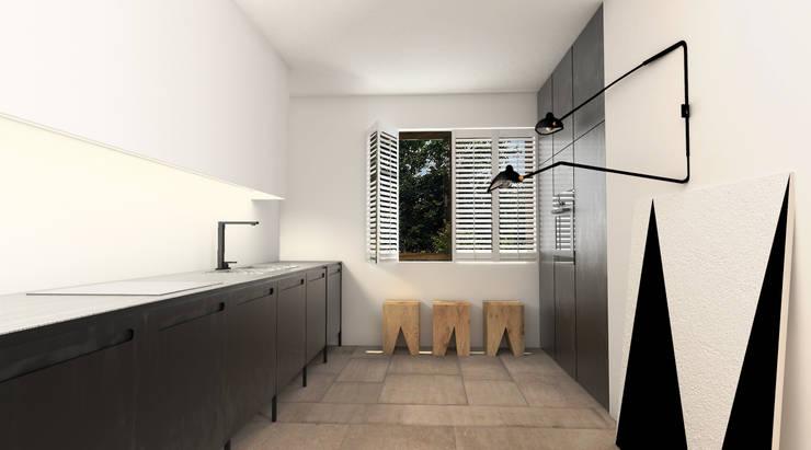 Dom w Konstancinie: styl , w kategorii Kuchnia zaprojektowany przez Sic! Zuzanna Dziurawiec,Eklektyczny Matal