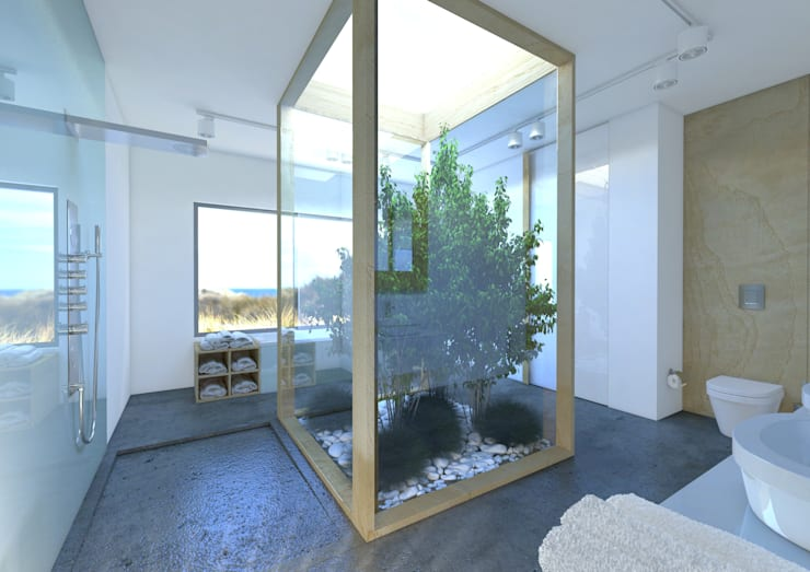 Łazienka naturalna: styl , w kategorii Łazienka zaprojektowany przez Sic! Zuzanna Dziurawiec