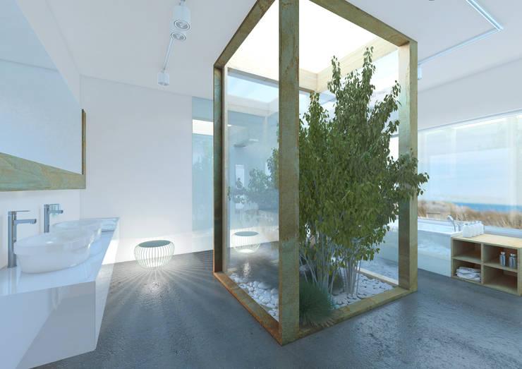 Łazienka naturalna: styl , w kategorii Łazienka zaprojektowany przez Sic! Zuzanna Dziurawiec,Nowoczesny Beton