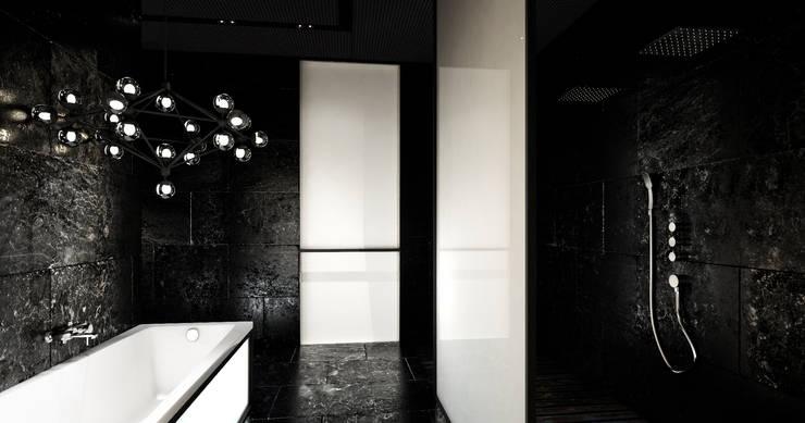 Łazienka elegancka : styl , w kategorii Łazienka zaprojektowany przez Sic! Zuzanna Dziurawiec