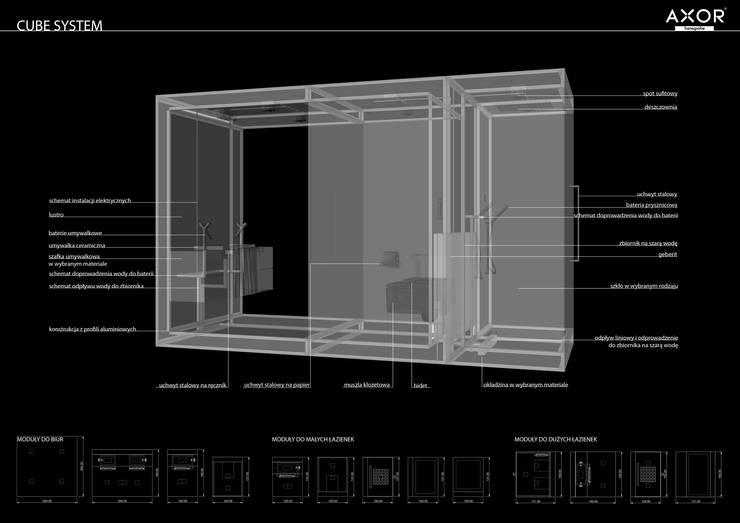 System modułowy: styl , w kategorii Łazienka zaprojektowany przez Sic! Zuzanna Dziurawiec
