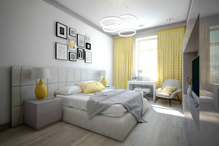 minimalistic Bedroom by BRISK!UP lab. Дизайн-бюро