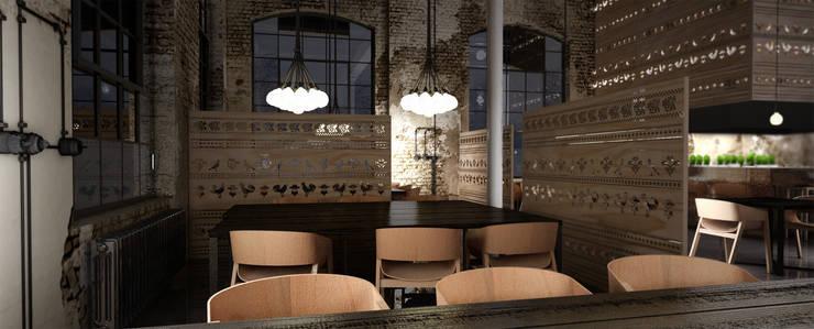 Restauracja Polka: styl , w kategorii Gastronomia zaprojektowany przez Sic! Zuzanna Dziurawiec