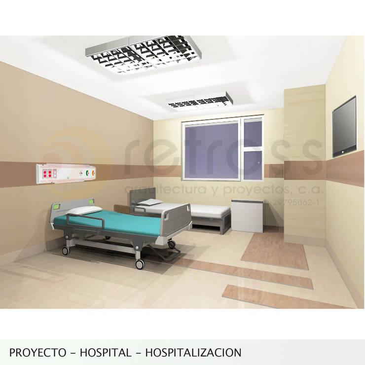 Imagen objetivo_Habitacion Hospitalizacion: Cuartos de estilo  por retross arquitectura y proyectos
