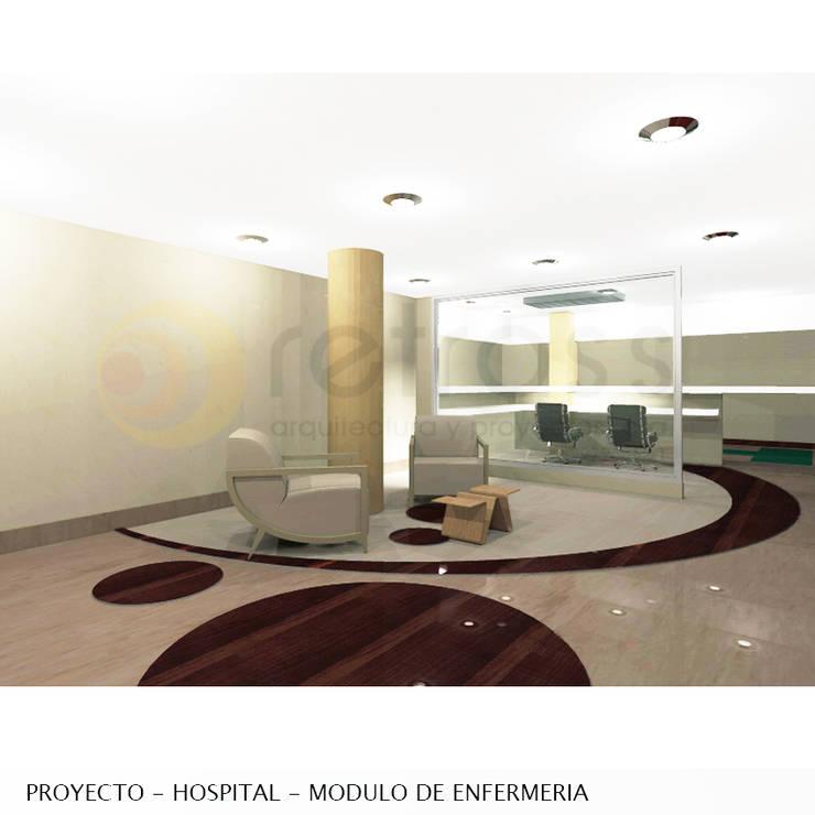 Imagen objetivo_Descanso enfermeria - evolucion medica: Salas / recibidores de estilo  por retross arquitectura y proyectos