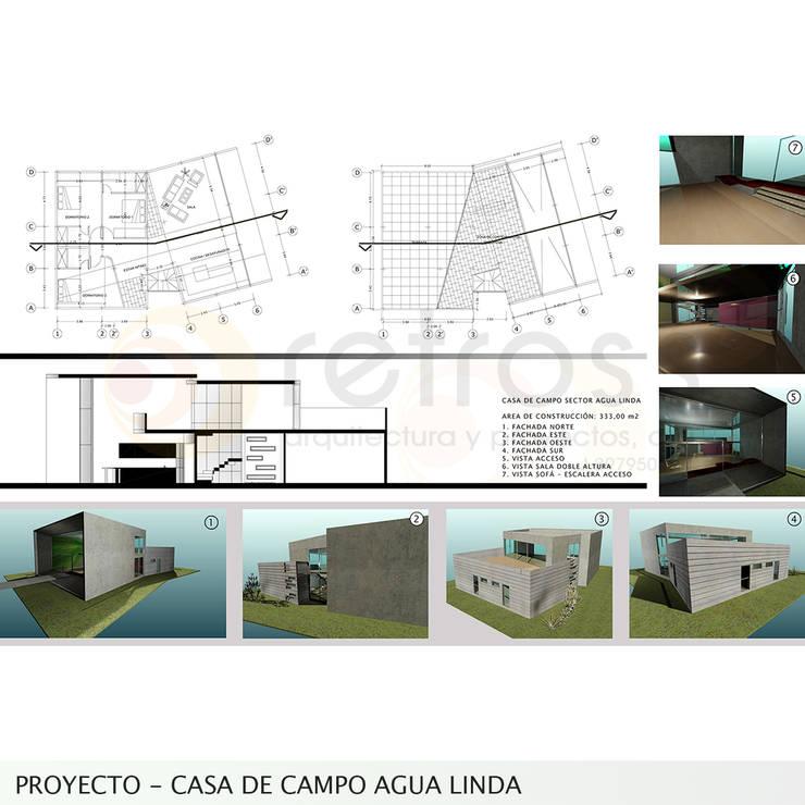Imagen objetivo  : Casas de estilo  por retross arquitectura y proyectos
