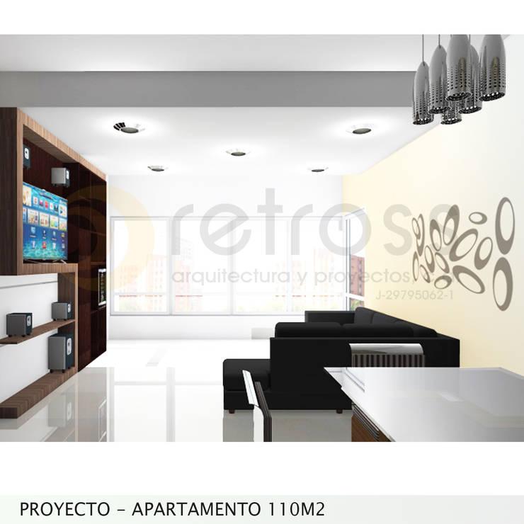 Imagen Objetivo Sala-Comedor: Salas / recibidores de estilo  por retross arquitectura y proyectos