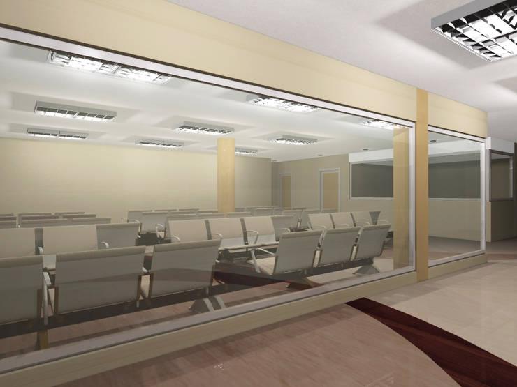 Imagen objetivo_Acceso - area de espera Imagenes: Pasillos y vestíbulos de estilo  por retross arquitectura y proyectos