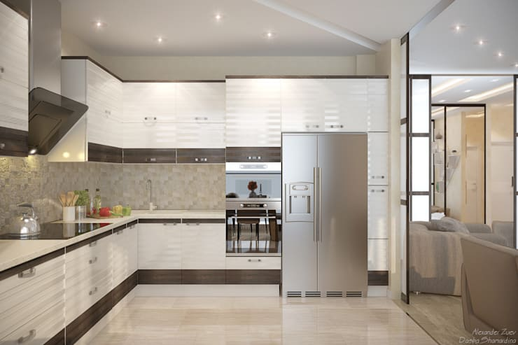 Kitchen by Студия интерьерного дизайна happy.design