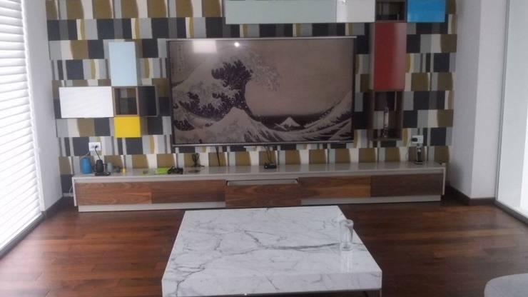 LIBRERO T.V. de Diseño en muebles Minimalista