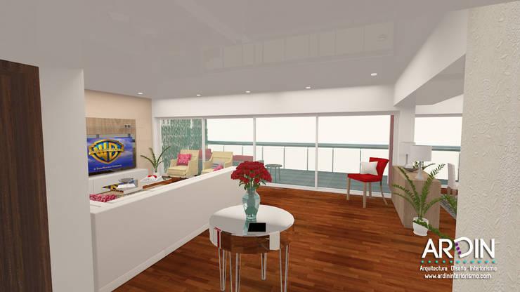 CUMBRES: Salas de estilo  por ARDIN INTERIORISMO