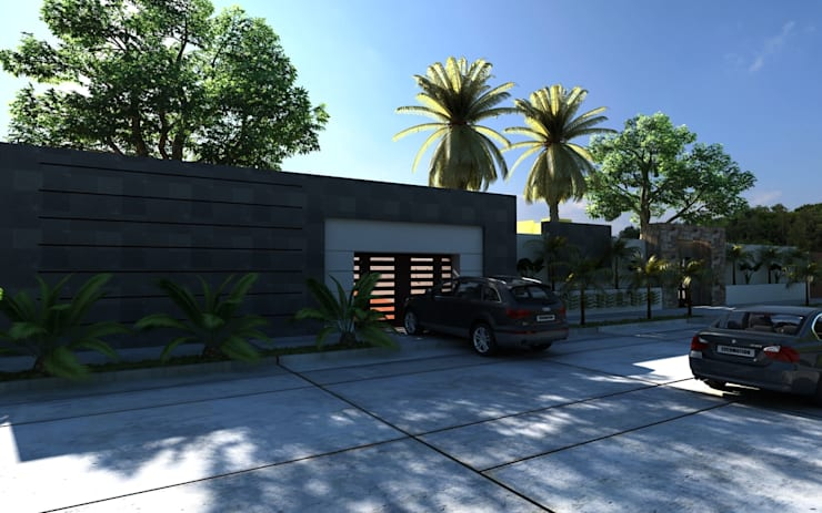 EXTERIOR: Casas de estilo  por OLLIN ARQUITECTURA